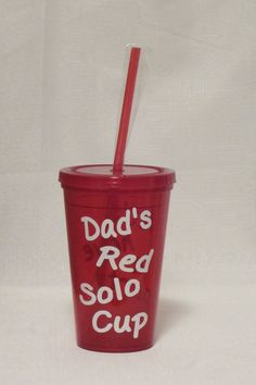 Dad's Red Solo Cup #fathersday