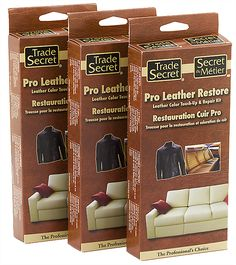 Repair worn, stained, discolored, or torn leather with our quick ...