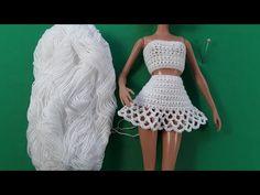 Эмма Сацкая - YouTube Crochet Doll Pattern, Crochet Dolls, Crochet Barbie Clothes, Crochet Videos, Barbie Dress, Crochet Fashion, Two Piece Skirt Set, Fashion Outfits, Dresses