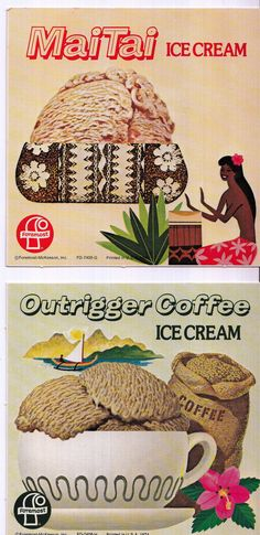 Foremost Ice Cream Promo Cards, 1950s.