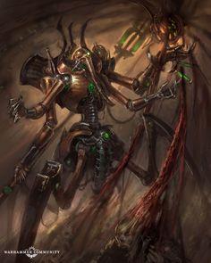 Illuminor Szeras – What We Know - Warhammer Community Warhammer 40k Necrons, Warhammer Models, Warhammer Fantasy, Necron Army, Best Armor, Architecture Art Design, Epic Art, Sci Fi Characters, The Grim