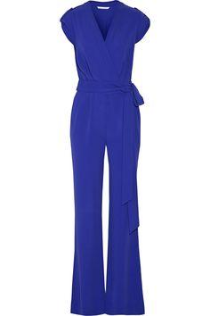 Diane von Furstenberg Purdy belted crepe jumpsuit NET-A-PORTER.COM