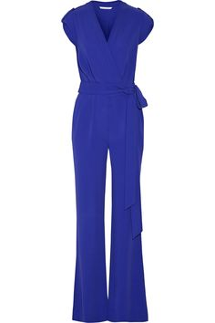 Purdy belted crepe jumpsuit | Diane von Furstenberg | US | THE OUTNET