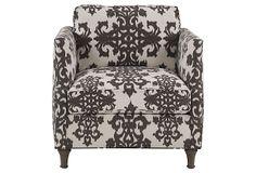 Thompson Chair, Cream/Espresso on OneKingsLane.com