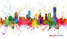 """Melbourne Skyline"" by Michael Tompsett via @greatbigcanvas at GreatBIGCanvas.com."