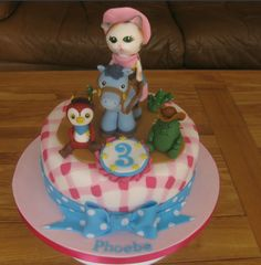 Sheriff Callie Birthday Cake. The perfect centrepiece for any Sheriff Callie Party. With the four main characters from the Disney Junior  show 'Sherrif Callie's Wild West'