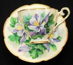 Royal Stafford Lavender Corsage simplyTclub Tea cup and saucer