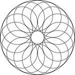 24 Circular rosette designs - geometry and mathematics