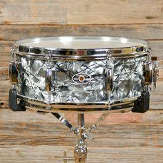 Slingerland 5x14 5 ply Snare Drum Black Diamond Pearl Late 70s