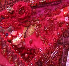 Crazy Quilting #red, #design, https://facebook.com/apps/application.php?id=106186096099420