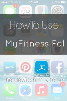 How to use the MyFitnessPal app for obtaining healthy weight loss goals.