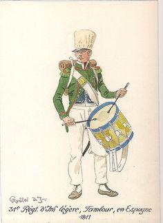 French; 31st Light Infantry, Drummer in Spain 1811
