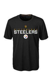 Pitt Steelers Boys Black Maximal Performance T-Shirt