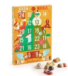 Carluccio's Advent Calendar 2017 - designed by Lucia Gaggiotti Chocolate Advent Calendar, Luxury Chocolate, Calendar 2017, 2017 Design, Layout, Graphic Design, Holiday Decor, Illustration, Home Decor