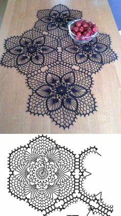 Watch The Video Splendid Crochet a Puff Flower Ideas. Phenomenal Crochet a Puff Flower Ideas. Crochet Doily Diagram, Crochet Square Patterns, Crochet Chart, Crochet Squares, Thread Crochet, Filet Crochet, Crochet Motif, Crochet Designs, Crochet Lace