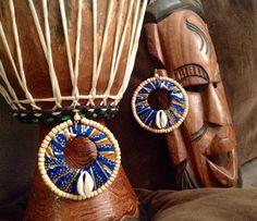 Boucles d'oreilles ethniques Afri'rica : Boucles d'oreille par de-couleurs-et-d-ailleurs