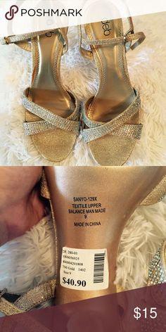 Sparkly gold heels Gold heels Deb Shoes Heels