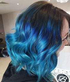 Nothing makes me happier then some creative colour! Ombré Hair, Dye My Hair, New Hair, Your Hair, Hair Dye Colors, Cool Hair Color, Ombre Hair Azul, Blue Hair Balayage, Hair Styles 2014