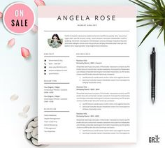 Professional Resume/CV Template by GResume on /creativemarket/