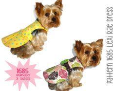 Lexi Rae Dog Dress Pattern 1685 * Bundle 3 Sizes * Dog Clothes Sewing Pattern * Dog Harness Dress Pattern * Girl Dog Clothes * Dog Apparel