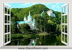3D Svyatogorsk Ukraine window wall sticker art decal IDCCH-LS-003129