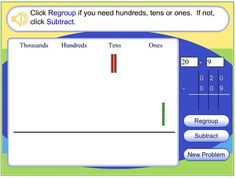 : subtraction with regrouping This is a great activity to help students with subtraction and regrouping. Teaching Subtraction, Teaching Math, Subtraction Regrouping, Maths, Teaching Ideas, Teaching Addition, Math Addition, Fourth Grade Math, Second Grade Math