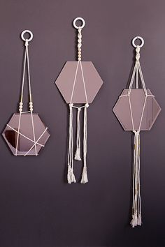 DIY Macrame Hanging Mirrors by Urban Outfitters Blog