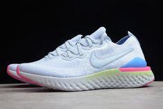 59505b80aced Nike Epic React Flyknit 2 Hydrogen Blue Sapphire-Lime Blast-Hyper Pink-