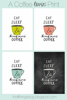 For the coffee lover in you!  Cuz this is all I really want to do some days!