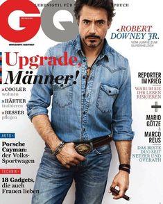 Man from ManLand Robert Downey Jr. Robert Downey Jr, Gq Magazine Covers, Best Fashion Magazines, Gentleman, Porsche, Mario, Natural Born Killers, Dior, Cover Boy