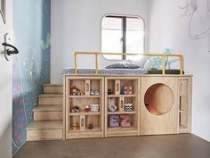 Design Detail – This Children's Bedroom Has A Custom Bed Unit With Storage And A Hidden Play Space HAO Design have created a child's bedroom with a custom bed that's been designed to get the child familiary with putting things away after using them. Small Room Design, Kids Room Design, Modern Kids Bedroom, Bedroom For Twins, Small Childrens Bedroom Ideas, Bed Unit, Boy Room, Child Room, Child Bed