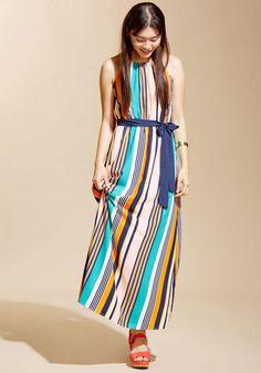 AdoreWe - ModCloth Coastline Bonfire Maxi Dress in Stripes in 3X - AdoreWe.com