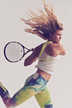 Get the look of your favorite pro tennis player at MIDWEST SPORTS! Shop our collection of the tennis apparel and equipment preferred by Eugenie Bouchard. Outfit Gym, Sport Outfit, Sport Wear, Tennis Outfits, Tennis Clothes, Lulu Lemon, Tennis Fashion, Sport Fashion, Kids Fashion