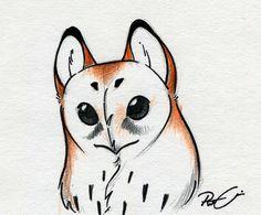 owl face by RobtheDoodler.deviantart.com on @deviantART