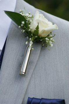 Handmade silver nickel bullet boutonniere with with broach type pin. Flowers are not included. But can be added for an additional cost. A great look for your western or country wedding. We also make them with brass bullets along with shotgun shells. Camo Wedding, Wedding Tips, Rustic Wedding, Wedding Planning, Dream Wedding, Wedding Day, Shotgun Wedding, Country Wedding Bouquets, Country Weddings