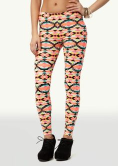 Neon Aztec Leggings | Leggings | rue21