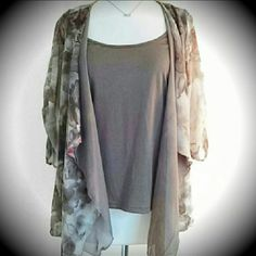 *HP Sweater Weather* Really Pretty Top *NWOT* It's got a built in tank and an added layer of taupe material. 100% Polyester New Directions Tops Blouses