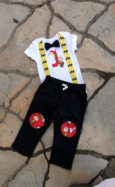 Charlie Brown Baby Boys Bow Tie Bodysuit with by shopantsypants