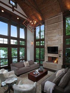 Modern-rustic lake house in Georgia: Lake Bluff Lodge