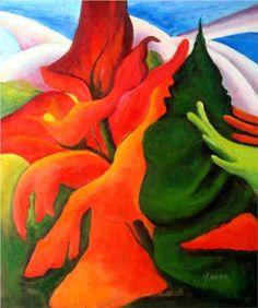 georgia okeefe paintings   Melting Volcano - Georgia OKeeffe - WikiPaintings.org