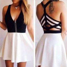 V-neck sexy sleeveless Ladies fashion dress