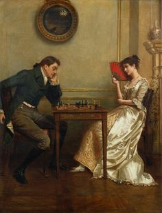 A Game of Chess ( Un Juego de Ajedrez) by George Kilburne.jpg (585×768)