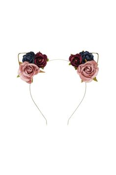 Floral Cat Ears Headband - Tap the link now to see all of our cool cat collections! Head Accessories, Hair Accessories For Women, Cat Ears Headband, Piercings, Animal Ears, Hair Jewelry, Flower Jewelry, Grunge, Hair Band