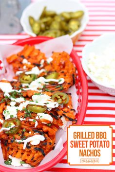 Grilled BBQ Sweet Potato Nachos! Recipe on Pizzazzerie.com