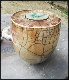 Raku pot by Veronique.