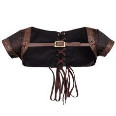 ZAMME Veste en mousseline Steampunk pour femme Burlesque pour corset assorti: Amazon.fr: Vêtements et accessoires