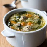 This recipe for Italian Wedding Soup is hearty and delicious! Perfect for those cold wintry nights ahead! Italian Recipes, Beef Recipes, Soup Recipes, Dinner Recipes, Cooking Recipes, Healthy Recipes, Easy Recipes, Dinner Ideas, Healthy Food
