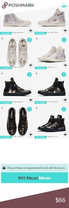 """(NFS!)Converse All Star Brush Off Leather High Top this item is currently 17% off on the DOTE SHOPPING APP 🙂. and even better .... if the Code """"WALK"""" is used when signing up .. you will get an extra 5% off as well as FREE SHIPPING . Their shipping is extremely fast . Download DOTE & use the code """"WALK"""" for 21% off the shoes as well as FREE SHIPPING .! Converse Shoes Sneakers"""