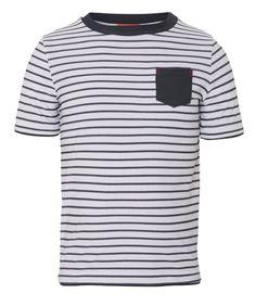 Boys Grey Stripe Short Sleeve Rash Vest