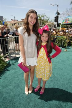 """Bailee Madison and Addison Riecke seen at Clarius Entertainment Los Angeles Premiere of """"Legends of Oz: Dorothy's Return"""" at Regency Village Theater on Saturday, May 03, 2014, in Los Angeles, CA. (Photo by [Eric Charbonneau]/Invision for Clarius Entertainment/AP Images) Invision."""